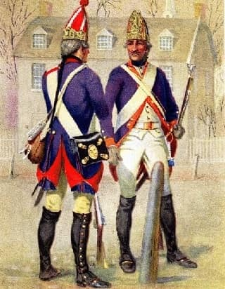 Hessian Soldiers Guarding Trenton